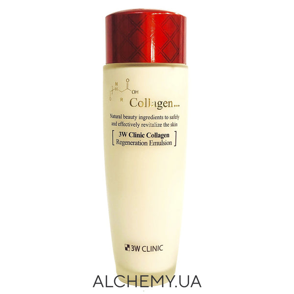 Эмульсия с коллагеном 3W CLINIC Collagen Regeneration Emulsion 100 ml Alchemy.com.ua
