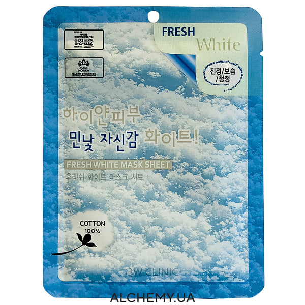 Тканевая маска 3W CLINIC Fresh Mask Sheet White