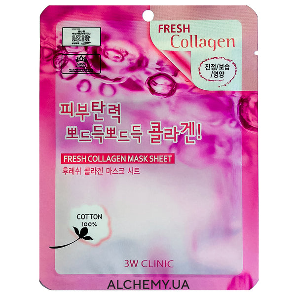 Тканевая маска 3W CLINIC Fresh Mask Sheet Collagen Alchemy.com.ua