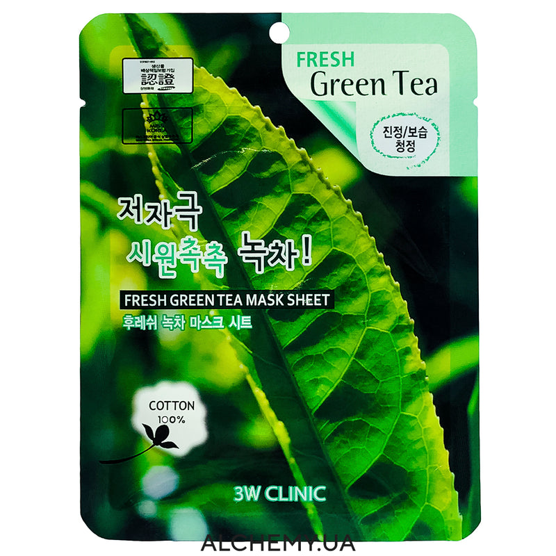 Tkanevaya maska 3W CLINIC Fresh Mask Sheet Green Tea
