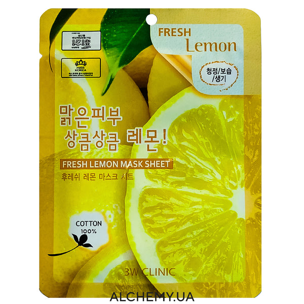 Тканевая маска 3W CLINIC Fresh Mask Sheet Lemon