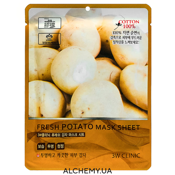 Тканевая маска 3W CLINIC Fresh Mask Sheet Potato Alchemy.com.ua