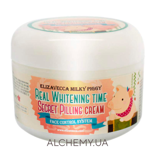 ОТБЕЛИВАЮЩИЙ ПИЛИНГ- КРЕМ Elizavecca Milky Piggy Real Whitening Time Secret Pilling Cream