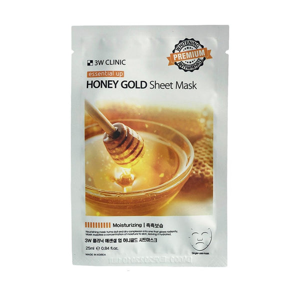Тканевая маска 3W CLINIC Essential Up Honey Gold Sheet Maskс экстрактом меда