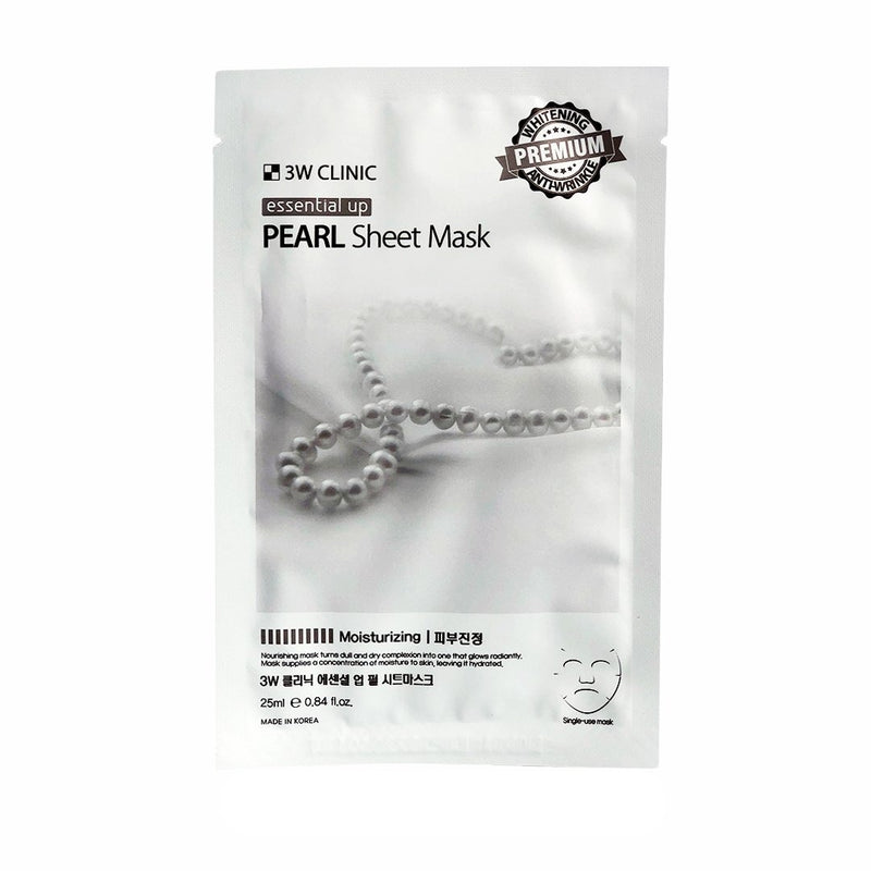 Тканевая маска 3W CLINIC Essential Up Pearl Sheet Mask с экстрактом жемчуга