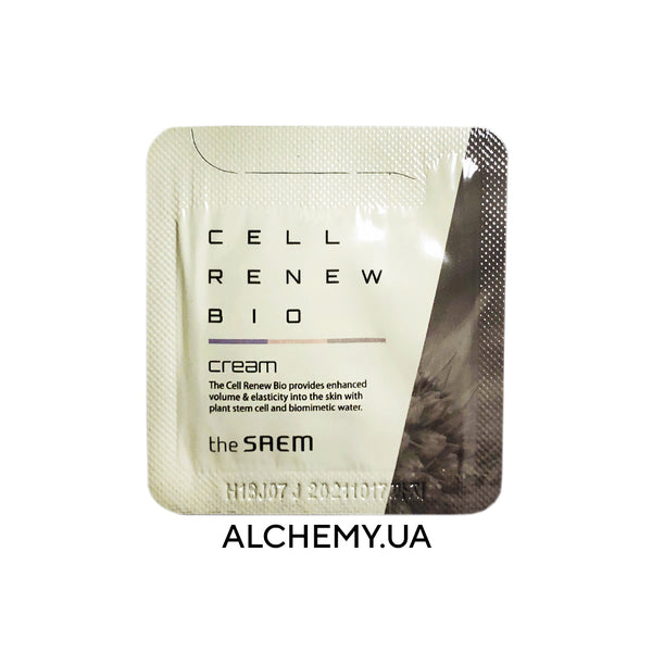 Probnik krema dlya lica THE SAEM Sample Cell Renew Bio Cream so stvolovymi kletkami rastenij