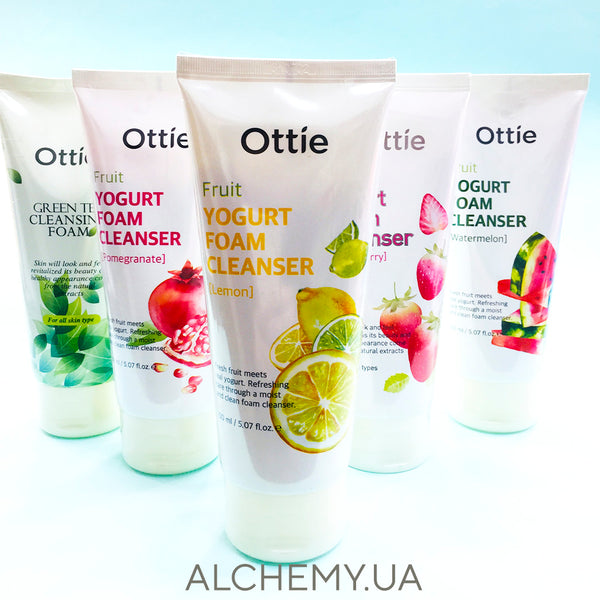 Oчищающая пенка Ottie Fruits Yogurt Foam Cleanser Lemon 150ml Alchemy.com.ua