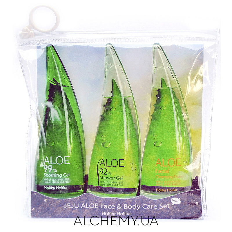 Набор средств с соком алоэ Holika Holika Jeju Aloe Face nd Bodycare Set Alchemy.com.ua