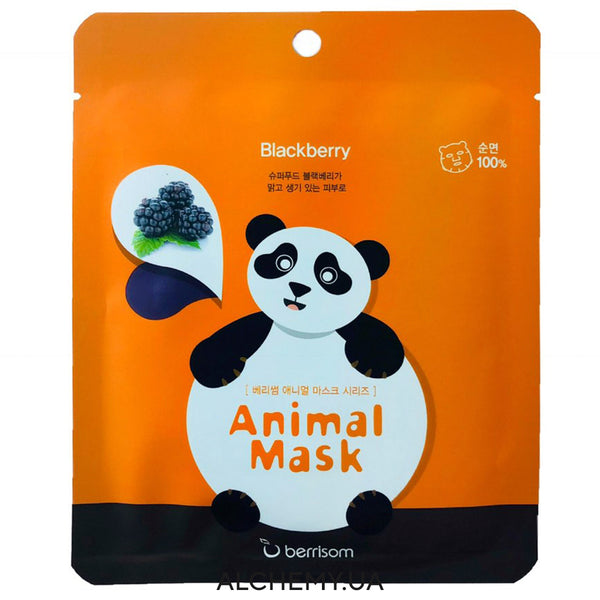 Тканевая маска с принтом BERRISOM Animal Mask Series Panda Alchemy.com.ua