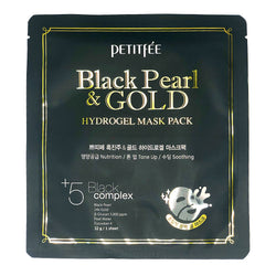 Гидрогелевая маска Petitfee Black Pearl & Gold Hydrogel Mask Pack