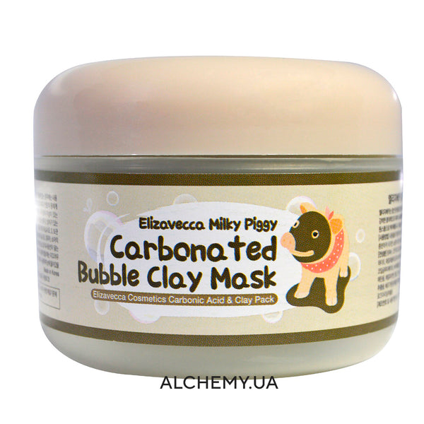 Очищающая кислородная маска ELIZAVECCA Carbonated Bubbled Clay Mask 100g Alchemy.com.ua