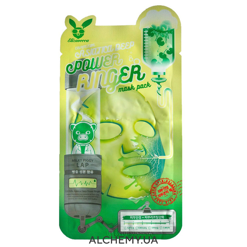 Тканевая маска ELIZAVECCA Centella Asiatica Deep Power Ringer Mask Pack Alchemy.com.ua