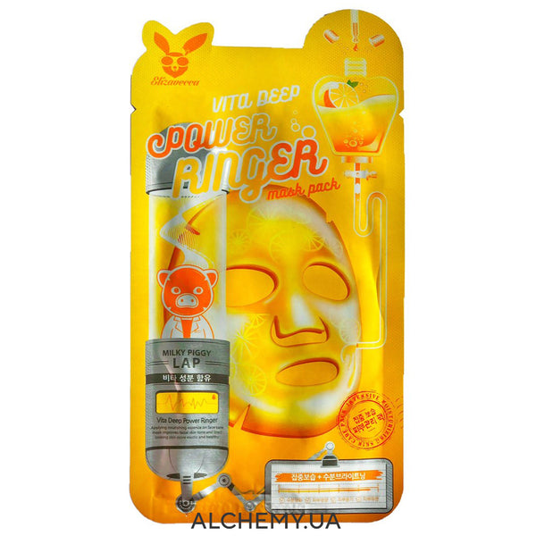 Тканевая маска ELIZAVECCA Vita Deep Power Ringer Mask Pack Alchemy.com.ua