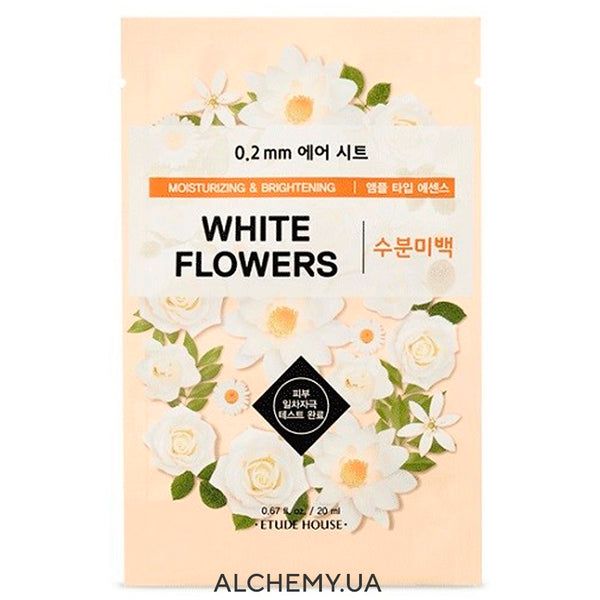 Tkanevaya maska ETUDE HOUSE 0.2 Therapy Air Mask White Flowers