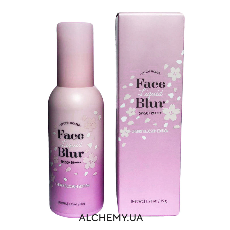 Сияющая база под макияж ETUDE HOUSE Face Liquid Blur (Cherry Blossom Edition) 35g (SPF50+ PA++++)