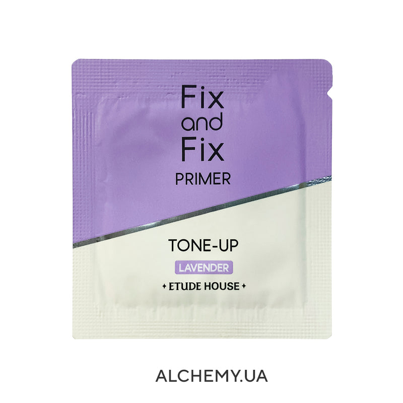 Пробник праймера ETUDE HOUSE Fix And Fix Tone Up Primer 03 Lavender