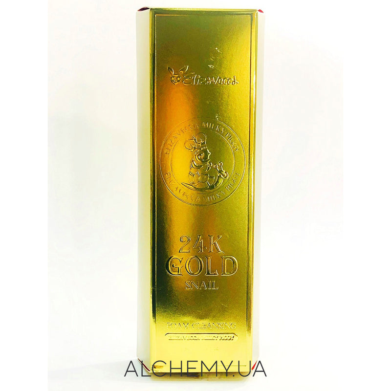 Пенка с золотом и улиткой Elizavecca 24k Gold Snail Cleansing Foam 180 ml Alchemy.com.ua