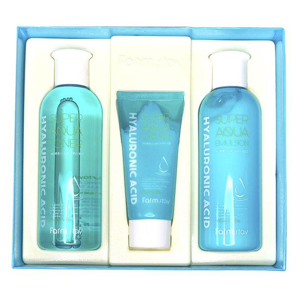 Набор косметики Farm Stay Hyaluronic Acid Super Aqua Skin Care 3 Set