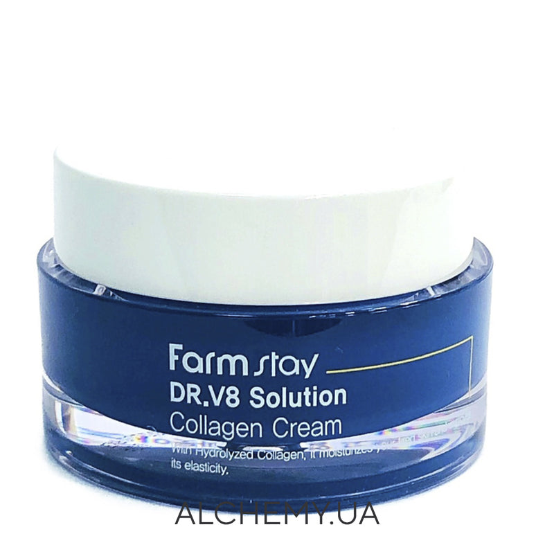 Pitatelnyj krem s  kollagenom FARM STAY DR.V8 Solution Collagen Cream 50 ml