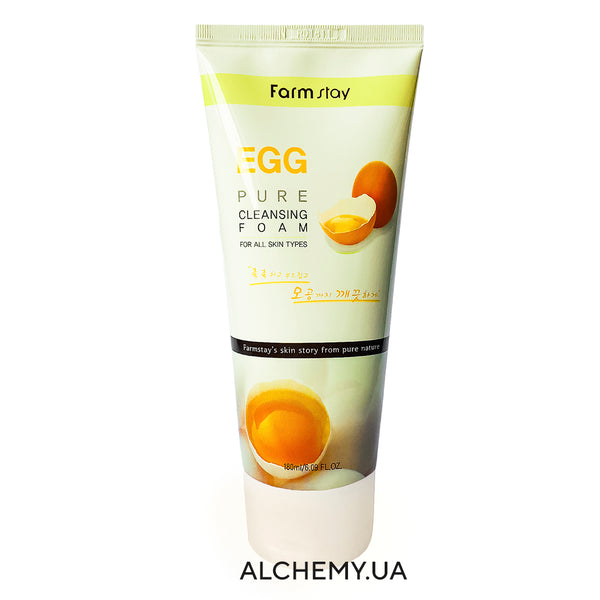 Яичная пенка для умывания FARM STAY Pure Cleansing Foam 180ml EGG Alchemy.com.ua