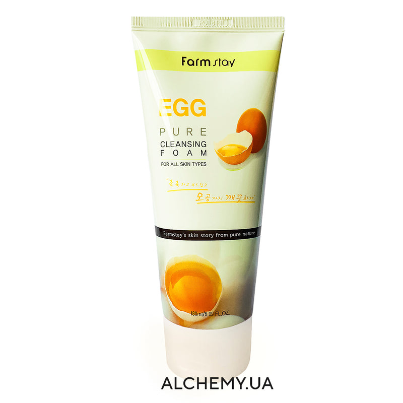Yaichnaya penka dlya umyvaniya FARM STAY Pure Cleansing Foam 180ml EGG