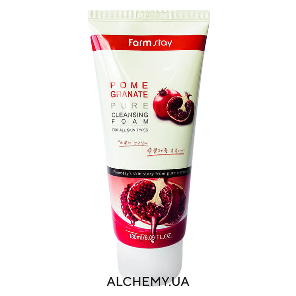 Пенка для умывания с гранатом FARM STAY Pure Cleansing Foam 180ml Pomegranate Alchemy.com.ua