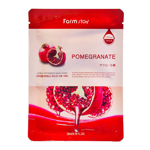 Тканевая маска FARM STAY Visible Difference Mask Sheet Pomegranate