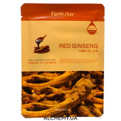 Тканевая маска FARM STAY Visible Difference Mask Sheet Red Ginseng