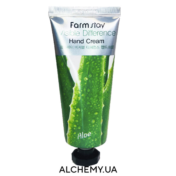 Krem dlya kozhi ruk FARM STAY Visible Difference Hand Aloe Cream 100g s aloe