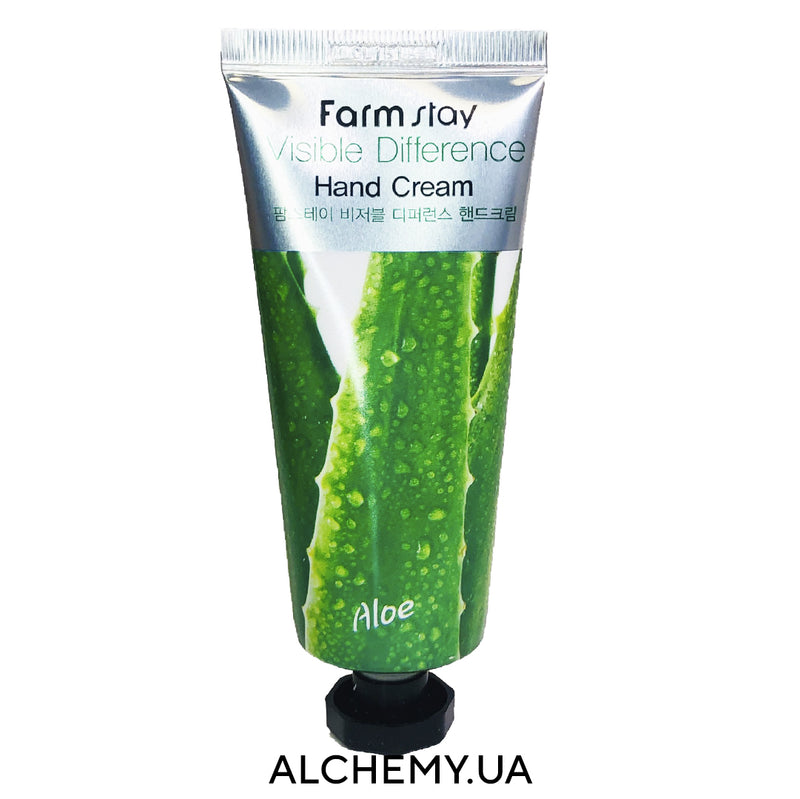 Крем для кожи рук FARM STAY Visible Difference Hand Aloe Cream 100g с алоэ