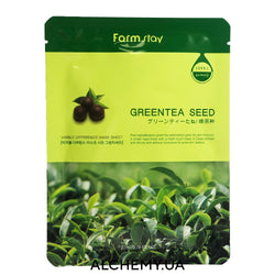 Tkanevaya maska dlya zhirnoj kozhi FARM STAY Visible Difference Mask Sheet Greentea Seed