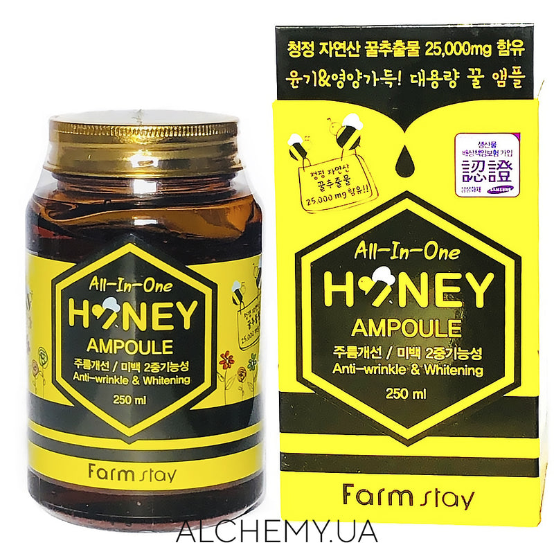 Сыворотка с медом Farm Stay Honey ALL-IN-ONE-AMPOULE 250 ml Alchemy.com.ua