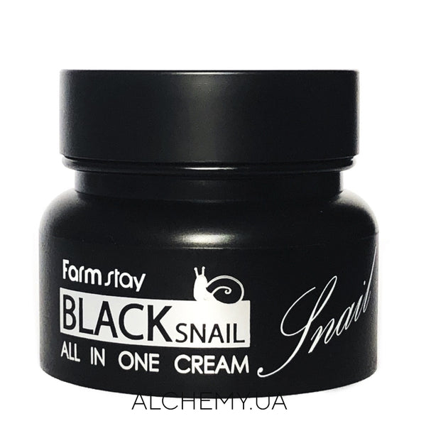 Крем для лица с муцином Farm Stay Black Snail All-In-One Cream 100 ml Alchemy.com.ua