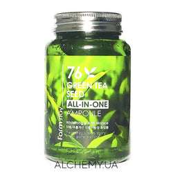 Успокаивающая сыворотка Farm Stay 76 Green Tea Seed All-In-One Ampoule 250 ml Alchemy.com.ua