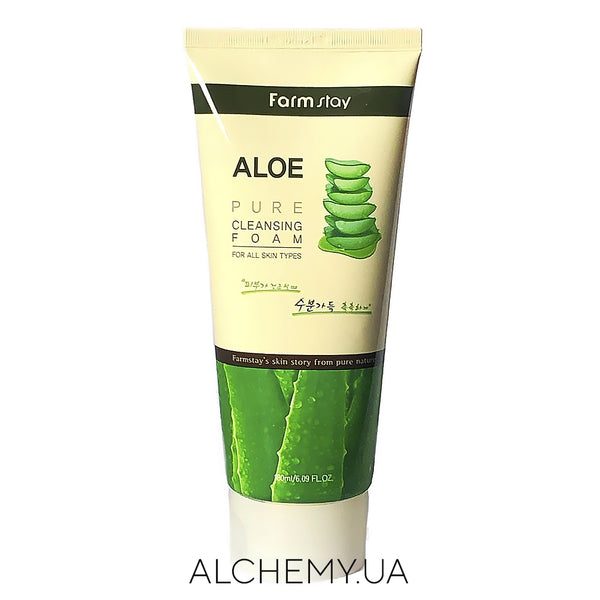 Пенка для умывания Farm Stay Aloe Pure Cleansing Foam 180 ml