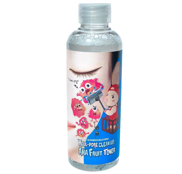 Тонер-пилинг Elizavecca Hell Pore Clean Up Aha Fruit Toner 200ml для проблемной кожи Alchemy.com.ua