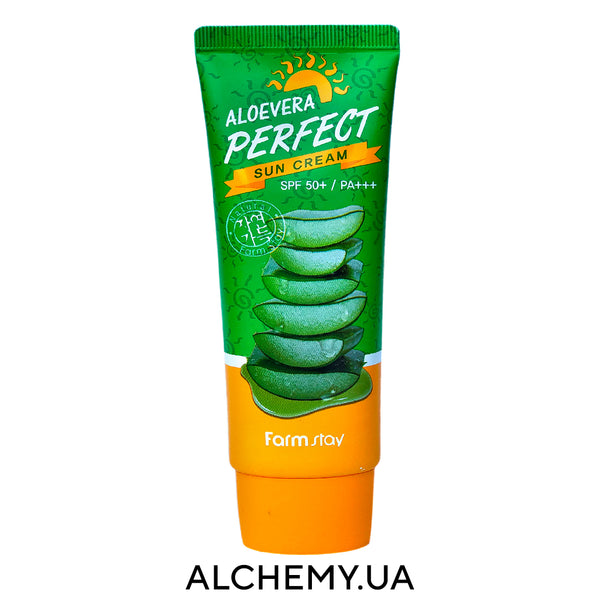 Солнцезащитный крем Farm Stay Aloevera Perfect Sun Cream 70g Alchemy.com.ua