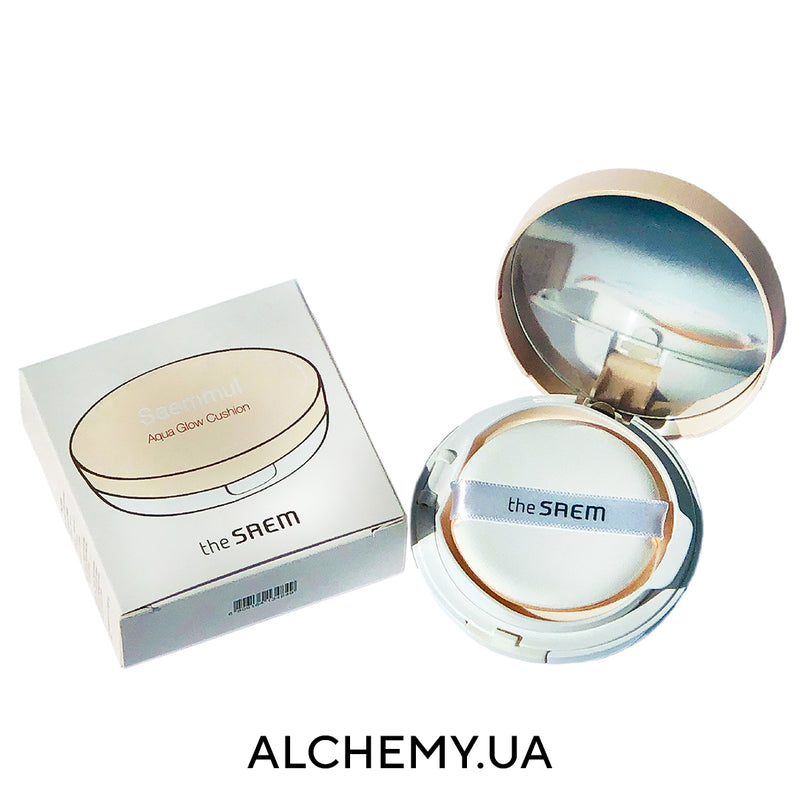 Кушон THE SAEM Saemmul Aqua Glow Cushion SPF50+ PA+++ 15g  с эффектом сияния