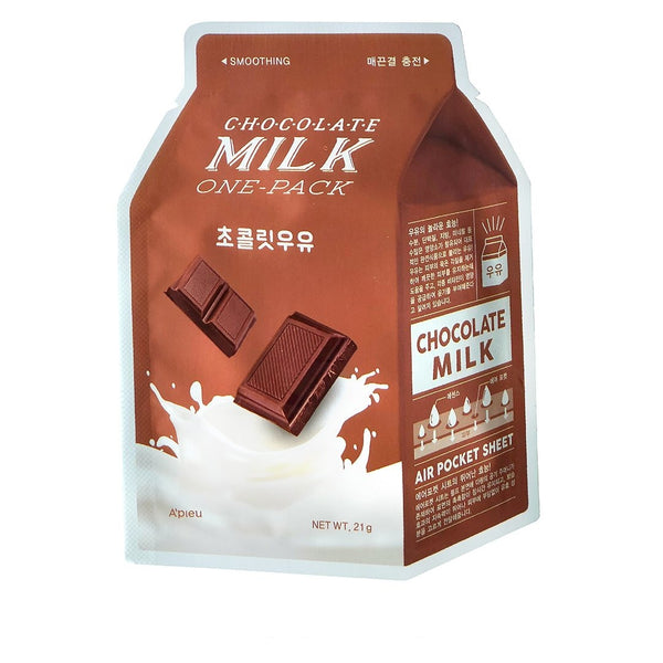 Tkanevaya maska dlya lica A'PIEU Milk One Pack Chocolate Smoothing suzhenie por