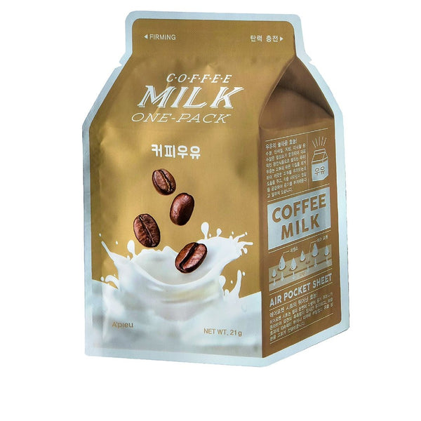 Toniziruyushaya tkanevaya maska A'PIEU Coffee Milk One-Pack Firming