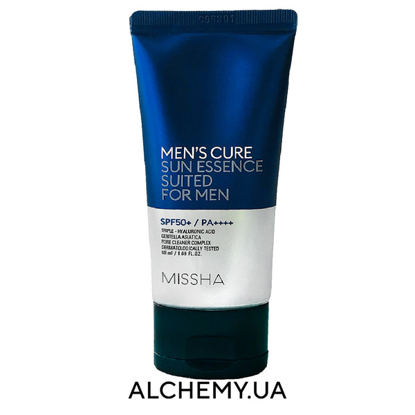 Muzhskaya solncezashitnaya essenciya Missha Men's Cure Sun Essence Suited For Men SPF50+ PA++++ 50ml