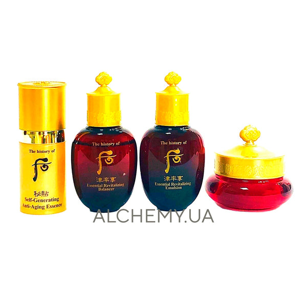 Набор миниатюр антивозрастного ухода The History Of Whoo Ja Saeng Essence Special Gift Set 4 items Alchemy.com.ua