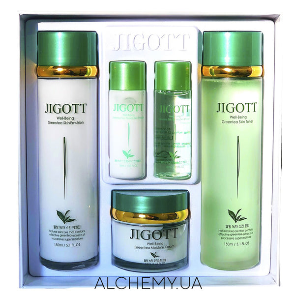 Nabor uhodovoj kosmetiki JIGOTT Well-Being Green Tea 3 Set