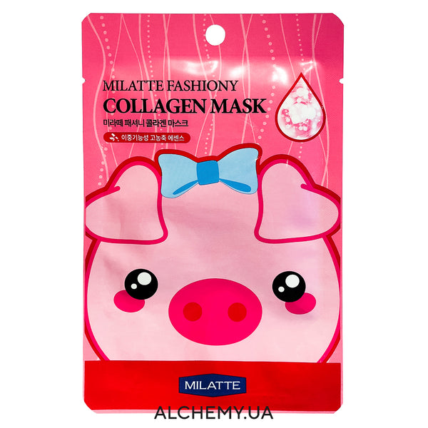 Тканевая маска MILATTE Fashiony Mask Sheet Collagen Alchemy.com.ua