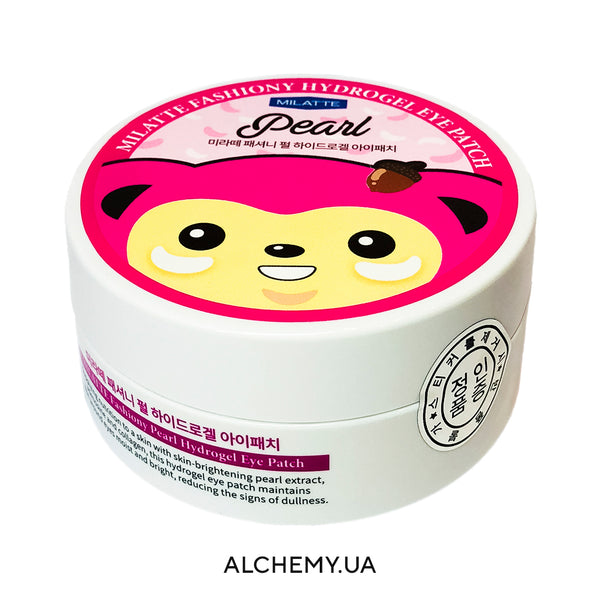 Гидрогелевые патчи с жемчугом MILATTE Fashiony Pearl Hydrogel Eye Patch Alchemy.com.ua