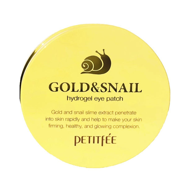Gidrogelevye patchi s zolotom i ulitkoj PETITFEE Gold & Snail Eye Patch - 1pack (60pcs)