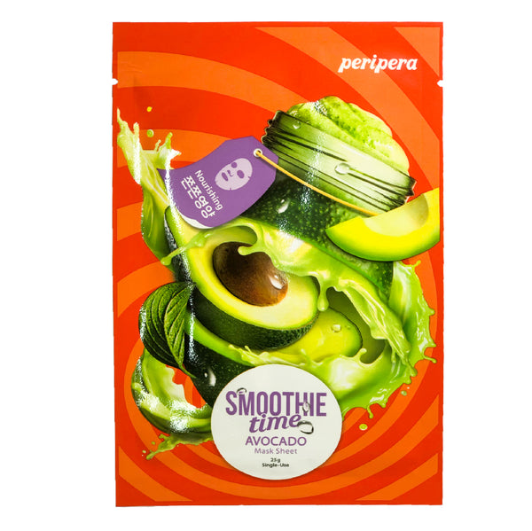 Увлажняющая маска PERIPERA Smoothie Time Mask Sheet Avocado с экстрактом авокадо