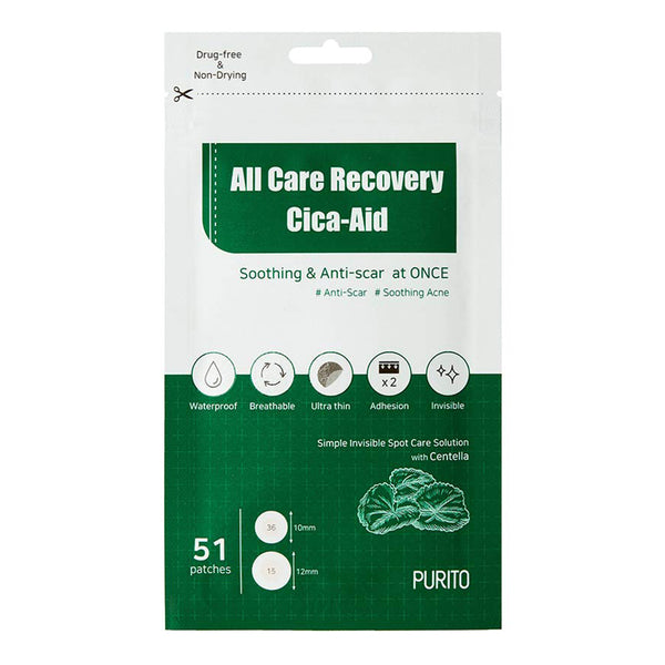 Патчи от акне Purito All Care Recovery Cica-Aid