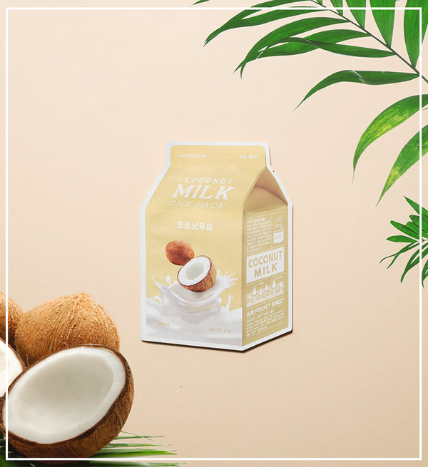 Увлажняющая тканевая маска A'PIEU Coconut Milk One Pack Moisturizing Alchemy.com.ua