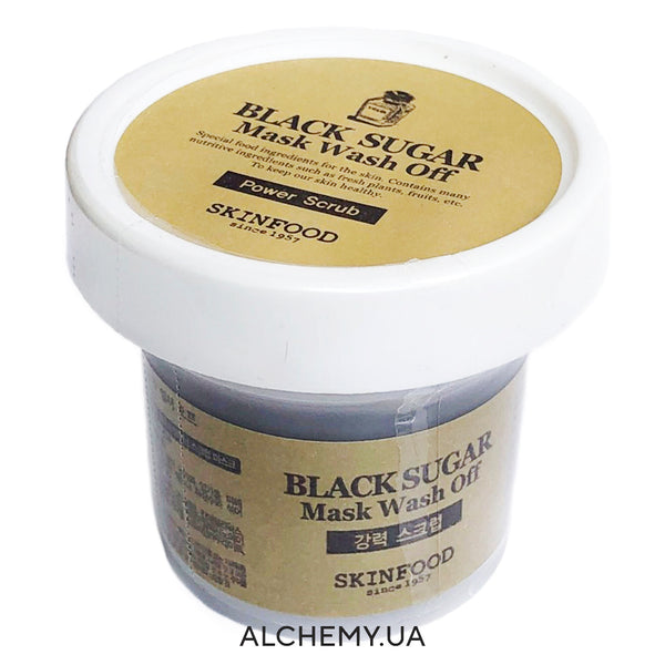 Смываемая сахарная маска-скраб SKINFOOD Black Sugar Mask Wash Off 100g